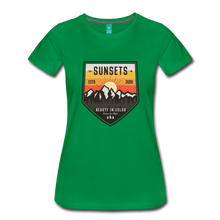 Load image into Gallery viewer, Women's Sunset T-Shirt - kelly green