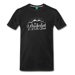 Men's Wanderlust T-Shirt (white) - black