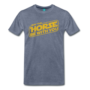 Men's May The Horse be with You T-Shirt - heather blue