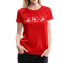 Load image into Gallery viewer, Women's Horse Symbols (solid) T-Shirt - red
