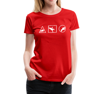 Women's Horse Symbols (solid) T-Shirt - red