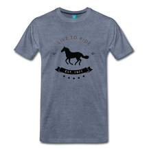 Load image into Gallery viewer, Men's Live to Ride T-Shirt - heather blue