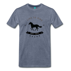 Men's Live to Ride T-Shirt - heather blue