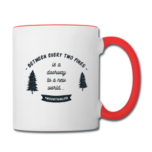 Load image into Gallery viewer, Between Every Two Pines Coffee Mug - white/red