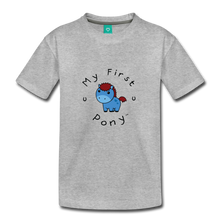 Load image into Gallery viewer, Toddler My First Pony T-Shirt (blue) - heather gray