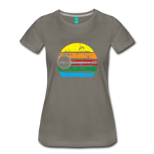 Load image into Gallery viewer, Women's Faded Banjo Rainbow T-Shirt - asphalt