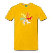 Load image into Gallery viewer, Men's Rainbow Horse Circle T-Shirt - sun yellow