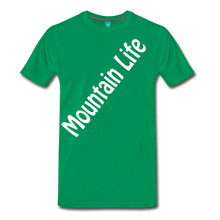 Load image into Gallery viewer, Men's Diagonal Mountain Life T-Shirt - kelly green