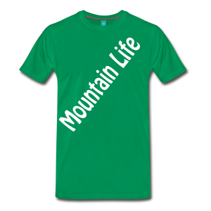 Men's Diagonal Mountain Life T-Shirt - kelly green
