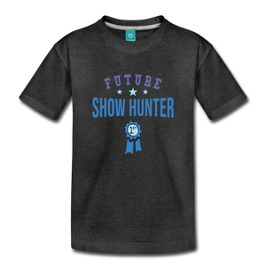 Toddler Future Show Hunter T-Shirt - charcoal gray