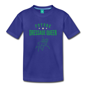 Toddler Future Dressage Queen T-Shirt - royal blue