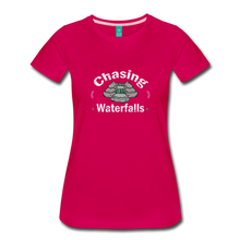 Load image into Gallery viewer, Women's Chasing Waterfalls T-Shirt - dark pink