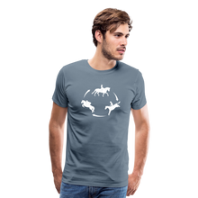 Load image into Gallery viewer, Men's 3-Day Eventing Circle T-Shirt - steel blue