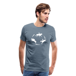 Men's 3-Day Eventing Circle T-Shirt - steel blue
