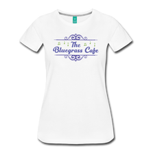 Load image into Gallery viewer, Women's The Bluegrass Cafe (swirl) T-Shirt - white