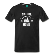 Load image into Gallery viewer, Men's Nature T-Shirt (white) - black