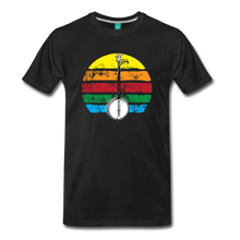 Load image into Gallery viewer, Men's Banjo Rainbow T-Shirt - black