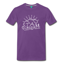 Load image into Gallery viewer, Men's Stay Wild T-Shirt (white) - purple