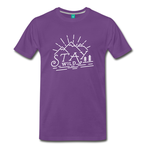Men's Stay Wild T-Shirt (white) - purple