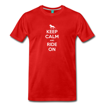 Load image into Gallery viewer, Men's Keep Calm and Ride On T-Shirt - red