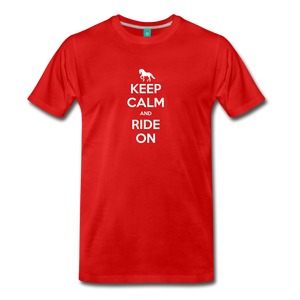 Men's Keep Calm and Ride On T-Shirt - red