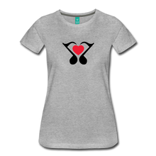 Load image into Gallery viewer, Women's Heart Music Note T-Shirt - heather gray