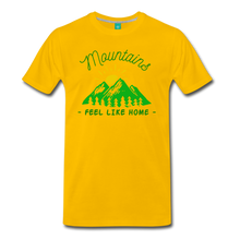 Load image into Gallery viewer, Men's Mountains Feel Like Home T-Shirt - sun yellow