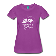 Load image into Gallery viewer, Women's Mountains T-Shirt (white) - light purple
