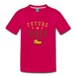 Toddler Future Hiker T-Shirt - dark pink