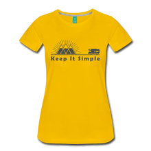 Load image into Gallery viewer, Women's RV Keep It Simple T-Shirt - sun yellow