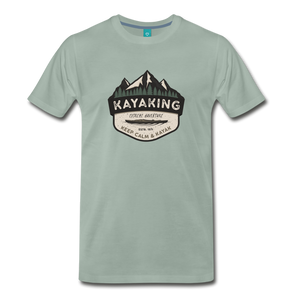 Men's Kayaking T-Shirt - steel green