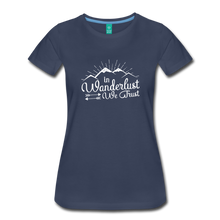 Load image into Gallery viewer, Women's Wanderlust T-Shirt (white) - navy