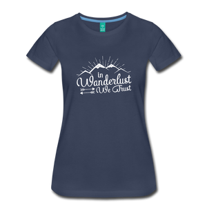 Women's Wanderlust T-Shirt (white) - navy