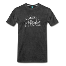 Load image into Gallery viewer, Men's Wanderlust T-Shirt (white) - charcoal gray