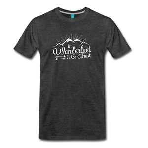 Men's Wanderlust T-Shirt (white) - charcoal gray