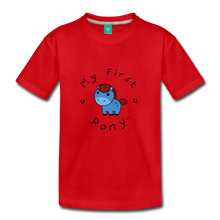Load image into Gallery viewer, Kids' My First Pony T-Shirt (blue) - red