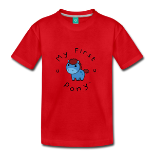 Kids' My First Pony T-Shirt (blue) - red