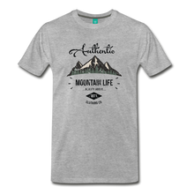 Load image into Gallery viewer, Men's Dark Authentic Mountain Life Clothing Co. T-Shirt - heather gray
