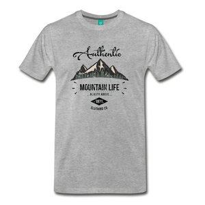 Men's Dark Authentic Mountain Life Clothing Co. T-Shirt - heather gray