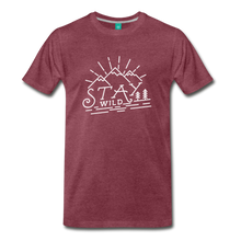 Load image into Gallery viewer, Men's Stay Wild T-Shirt (white) - heather burgundy