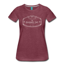 Load image into Gallery viewer, Women's The Bluegrass Cafe (music is life) T-Shirt - heather burgundy
