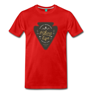 Men's Hiking Life T-Shirt - red