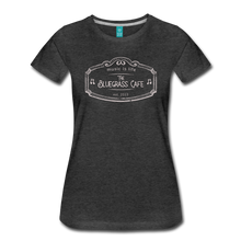 Load image into Gallery viewer, Women's The Bluegrass Cafe (music is life) T-Shirt - charcoal gray
