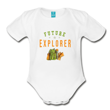 Load image into Gallery viewer, Future Explorer Baby Bodysuit - white