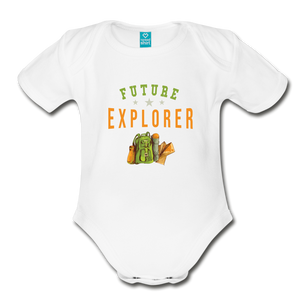 Future Explorer Baby Bodysuit - white