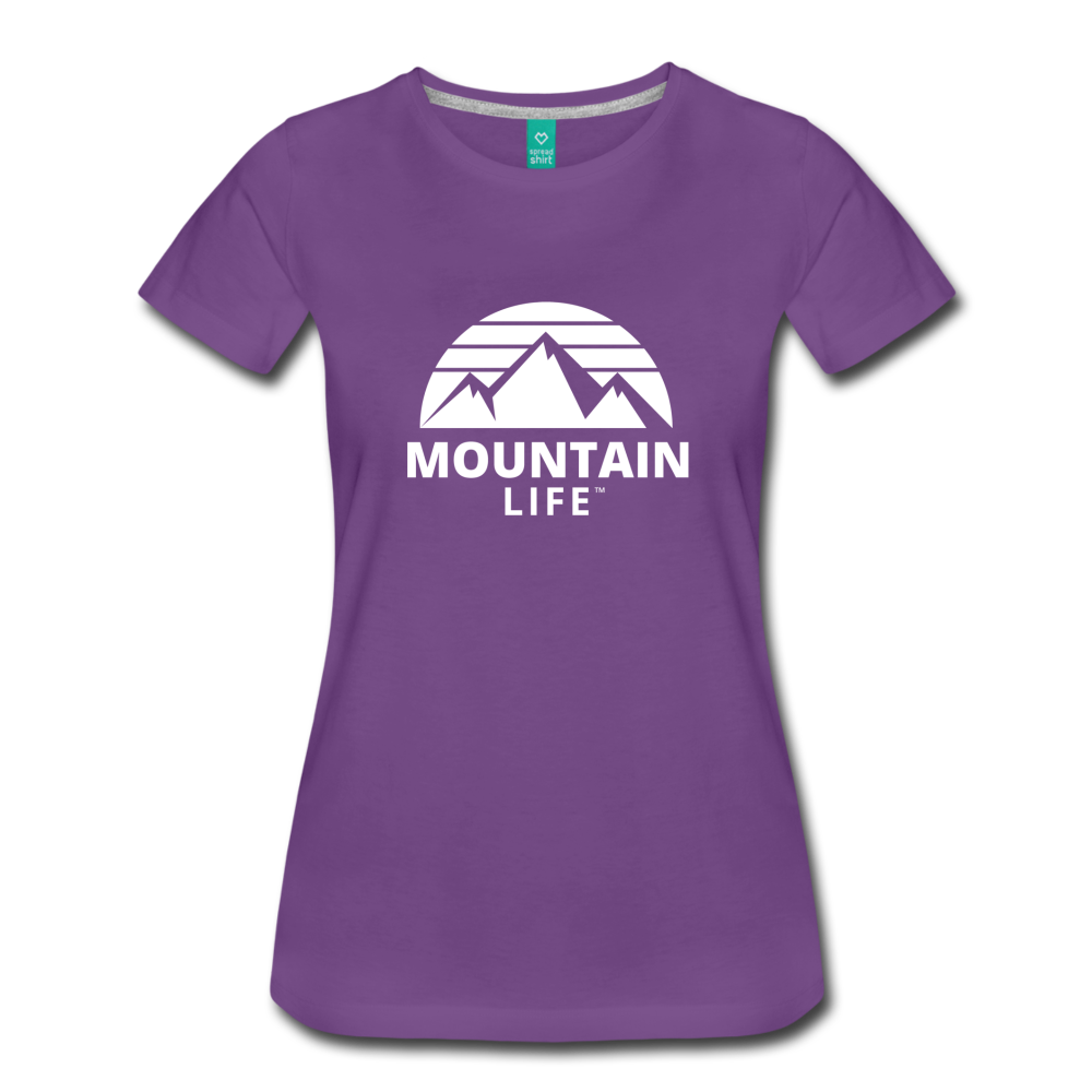 Women's Premium T-Shirt (white) - purple