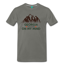 Load image into Gallery viewer, Men's Georgia on my Mind T-Shirt - asphalt