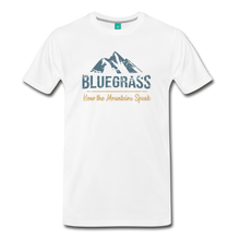 Load image into Gallery viewer, Men's Bluegrass Mountains Speak T-Shirt - white