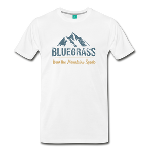 Men's Bluegrass Mountains Speak T-Shirt - white