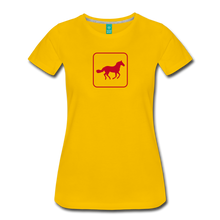 Load image into Gallery viewer, Women's Horse Icon T-Shirt - sun yellow